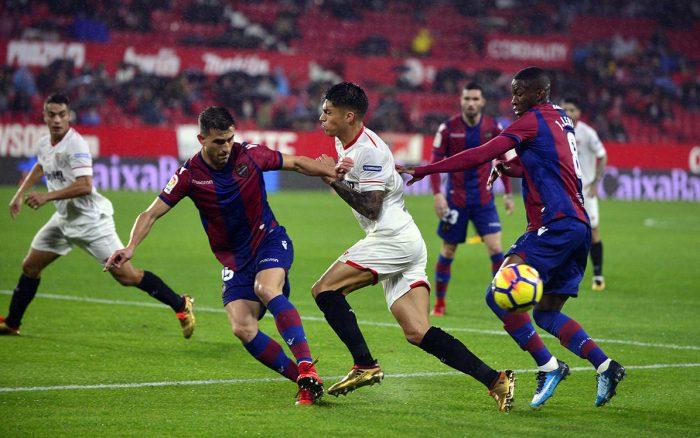 Kết quả hình ảnh cho Levante vs Sevilla